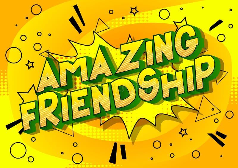 Zadziwiająca przyjaźń - komiksu stylu zwrot ilustracji