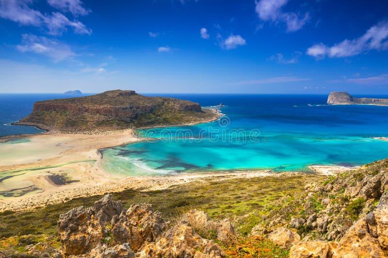 Zadziwiająca sceneria Balos plaża na Crete obraz stock