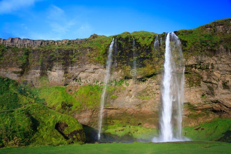 Zadziwiająca siklawa w Iceland obrazy stock