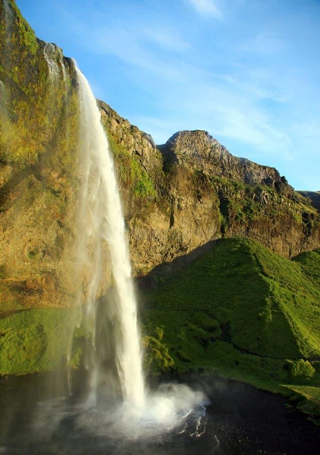 Zadziwiająca siklawa w Iceland zdjęcie stock