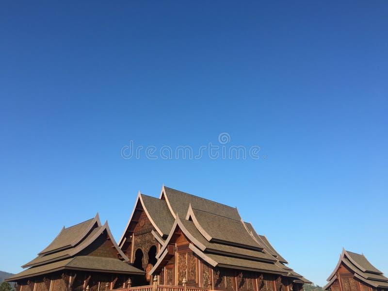 Zadziwiająca Tajlandzka świątynia zdjęcie royalty free