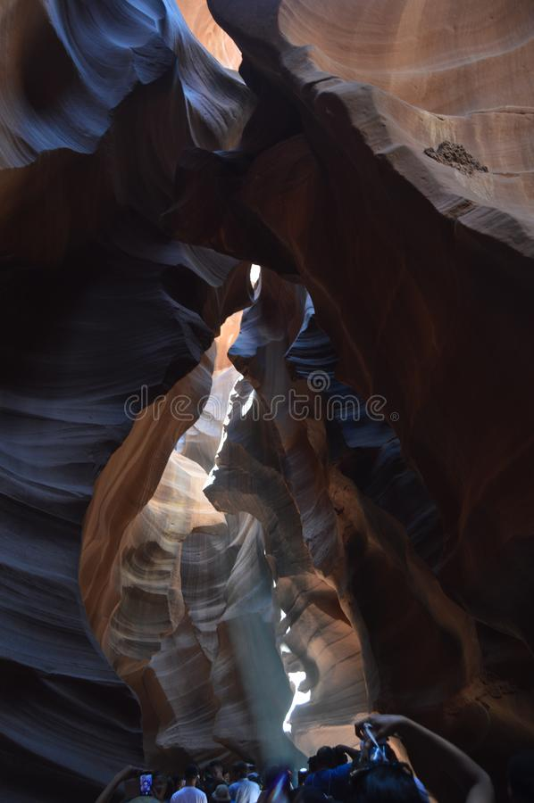 Zadziwiające Geological formacje W antylopa jarze Ziemia Navajos geom wakacje Podróż zdjęcie stock