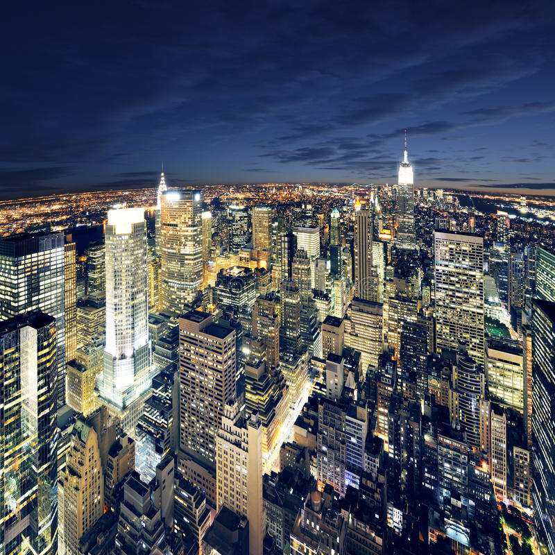 zadziwiającego miasta Manhattan nowy newyork przeglądać York zdjęcie royalty free