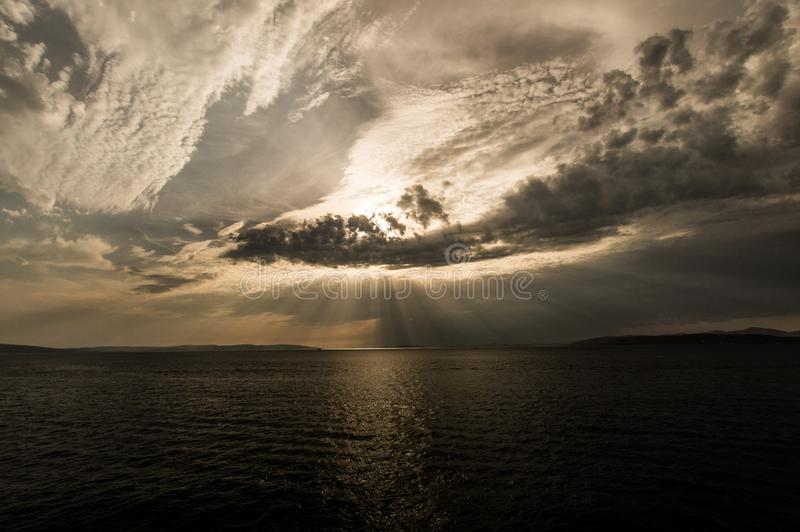 Zadziwiający światło słoneczne obraz stock