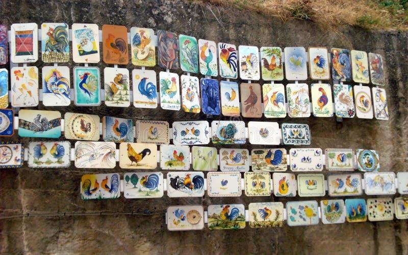 Zadziwiający ceramics w Grottaglie, Włochy zdjęcia stock