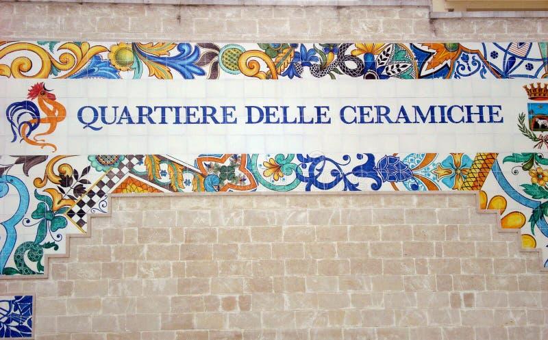 Zadziwiający ceramics w Grottaglie, Włochy fotografia royalty free