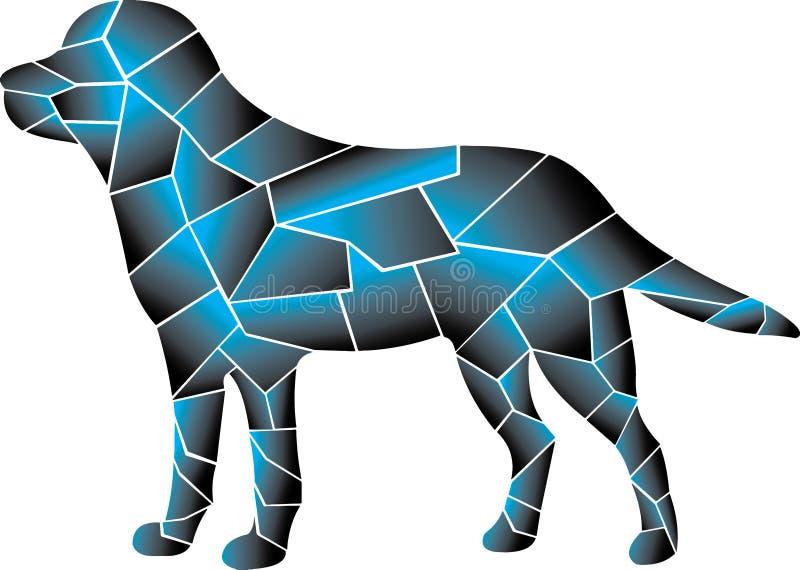 Zadziwiający dobry przyglądający błękitny pies r??ni elementy ilustracji