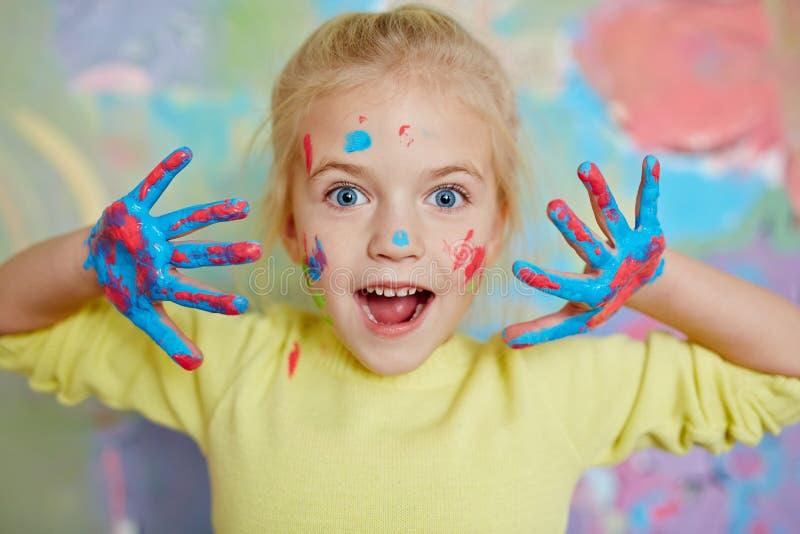 Zadziwiający dziecko zdjęcie royalty free