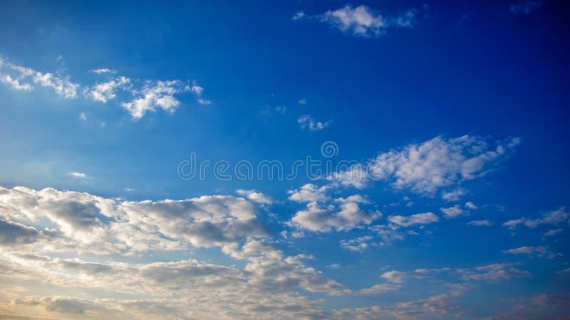 Zadziwiający niebieskie niebo od Egypt zdjęcia royalty free