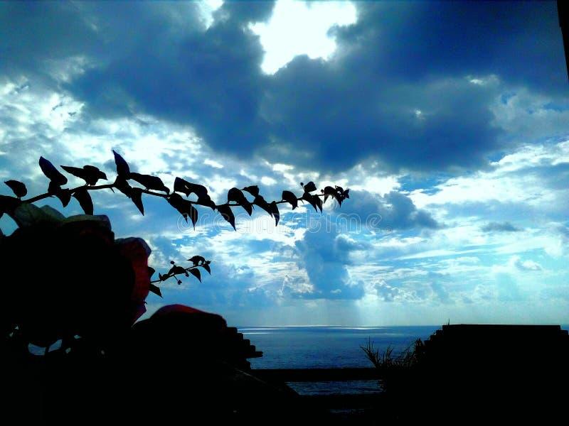 Zadziwiający niebo w jesień indyku obraz royalty free