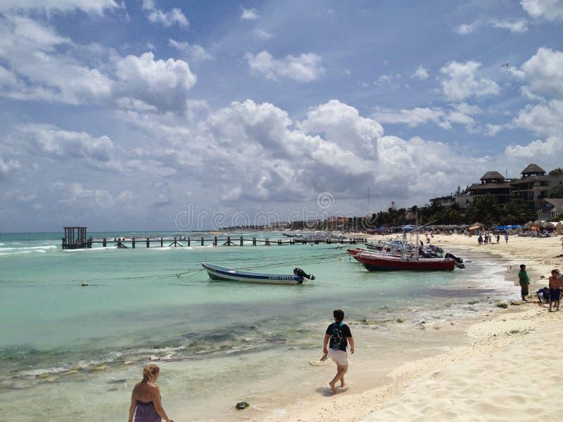 Zadziwiający niebo w playa del carmen obraz royalty free
