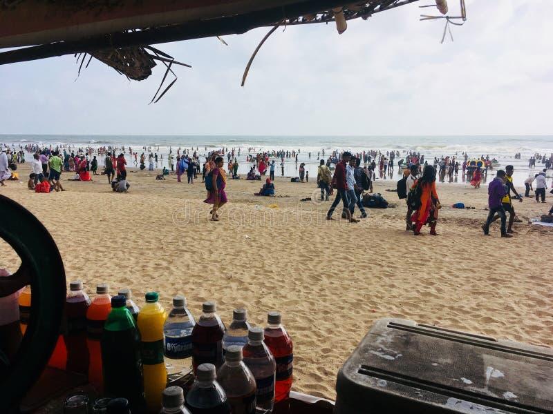Zadziwiający piękno indianin plaże w lecie obrazy royalty free