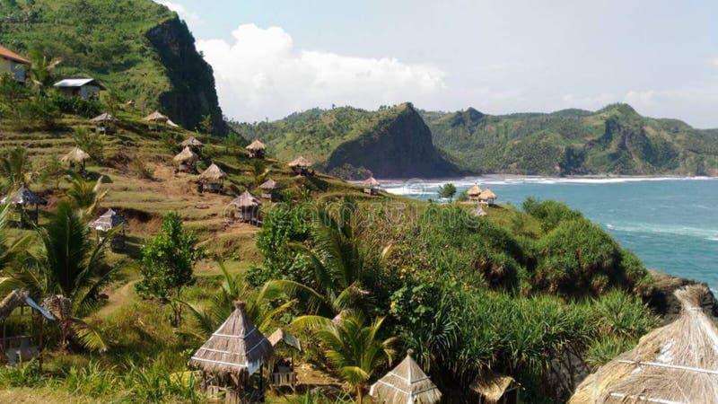 Zadziwiający plażowy landacape zdjęcia royalty free