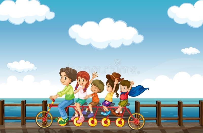 Zadziwiający rower royalty ilustracja