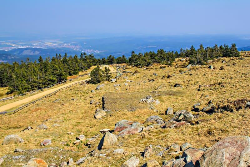Zadziwiający widok przy górą Brocken obraz stock