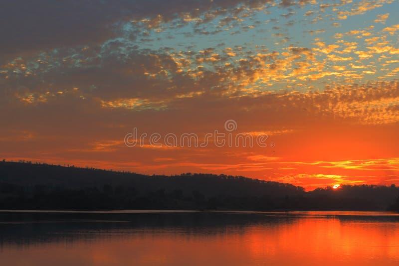 Zadziwiający widok w niebie fotografia stock