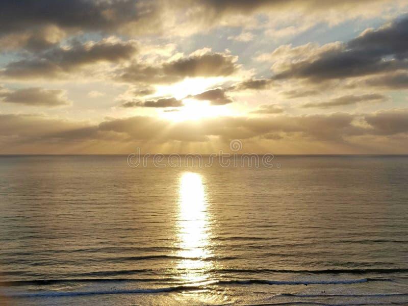 Zadziwiający zmierzch chwytający w San Diego zdjęcie stock