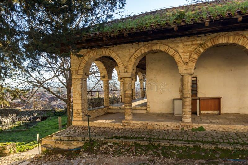 Zadziwiający zmierzchu widok Aslan Pasha meczet w kasztelu miasto Ioannina, Epirus, Grecja obrazy royalty free