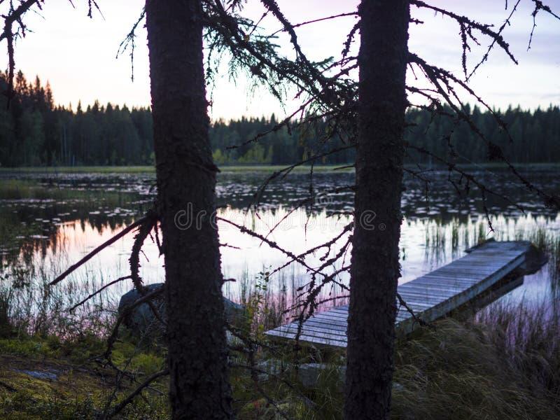 Zadziwiający zmierzchu widok - Lusi, Finlandia zdjęcie royalty free