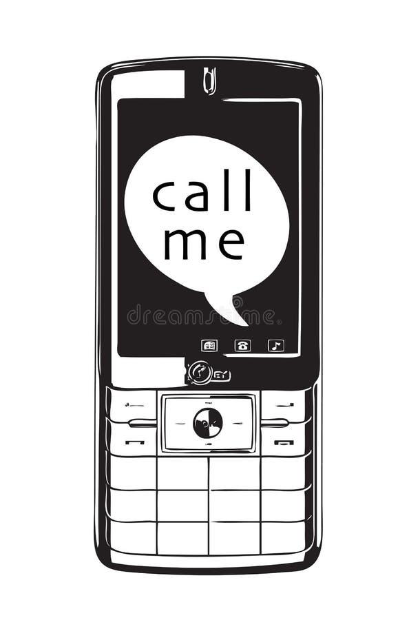 zadzwoń do mnie ilustracji