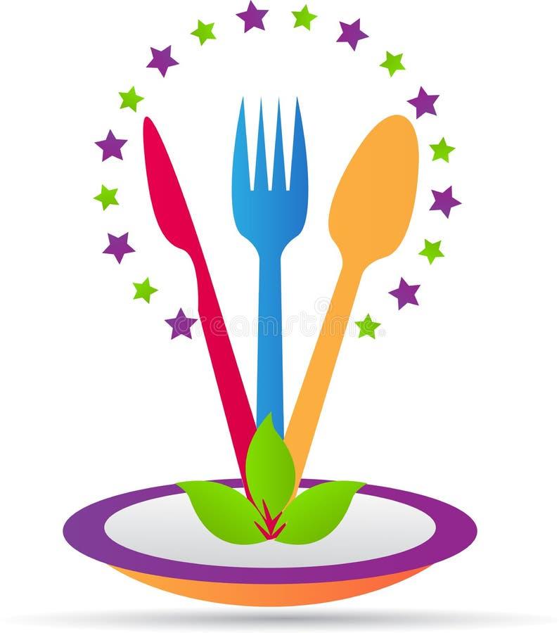 zadzwonił do krojenia chleba festiwal się kupusijada logo żywności mięsa zdjęcia mrcajevci restauracja sześć stolików ilustracja wektor