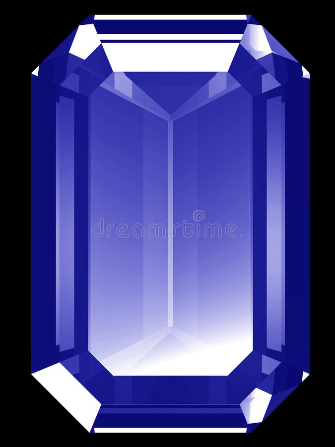 zaffiro 3d royalty illustrazione gratis