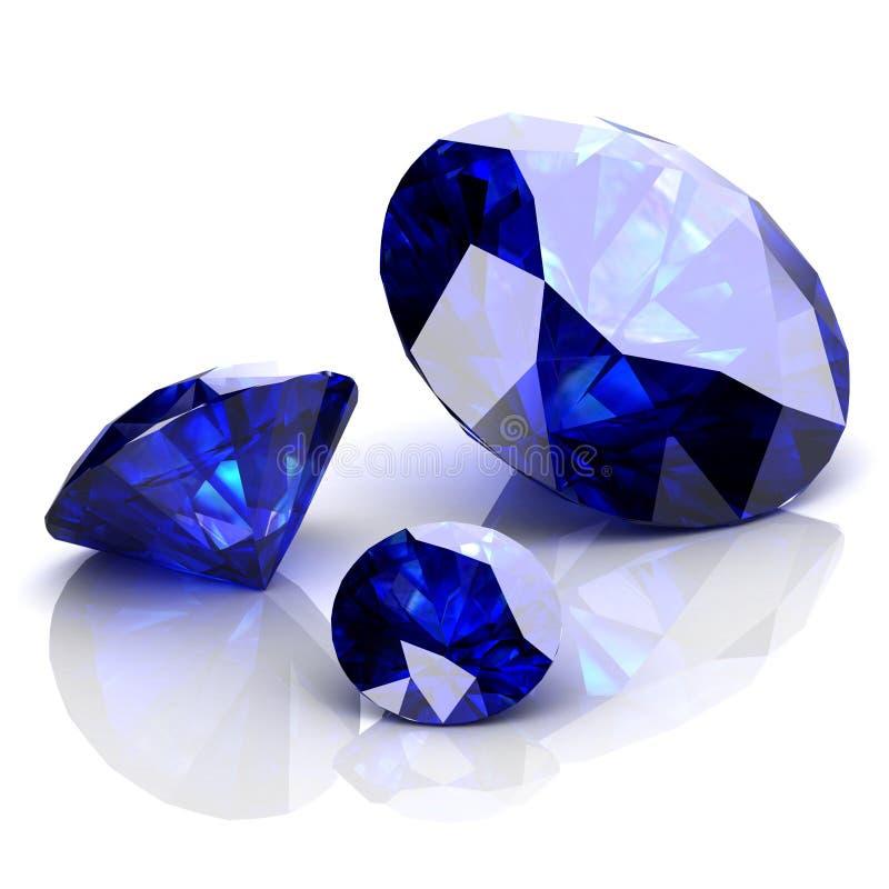 Zafiro azul fotografía de archivo