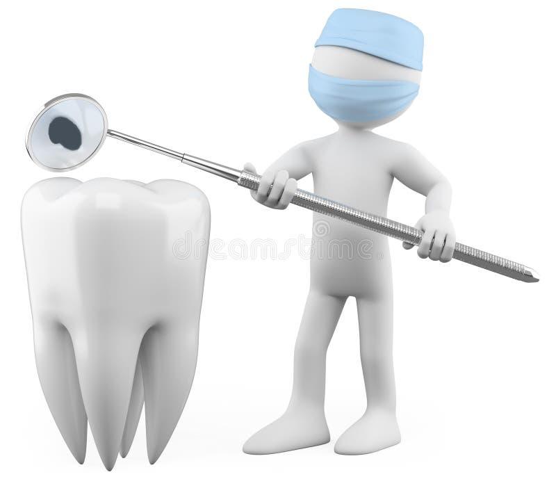 zagłębienia dentysty seans ilustracji