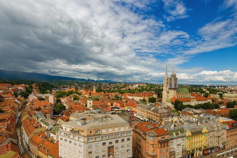 zagabria La Croazia fotografia stock libera da diritti