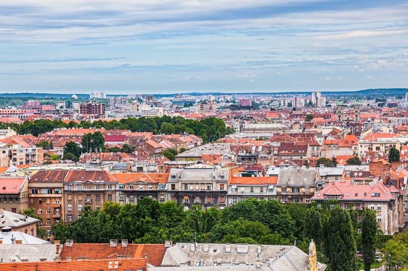 Zagabria, panorama fotografie stock libere da diritti