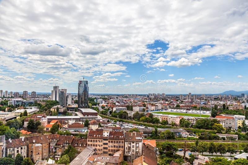 Zagabria, panorama immagine stock