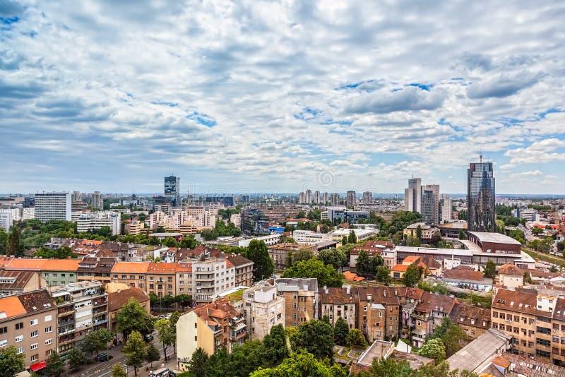 Zagabria, panorama immagini stock