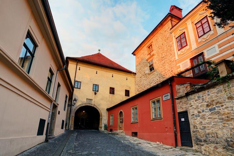 Zagabria - vecchio portone della fortezza fotografia stock libera da diritti