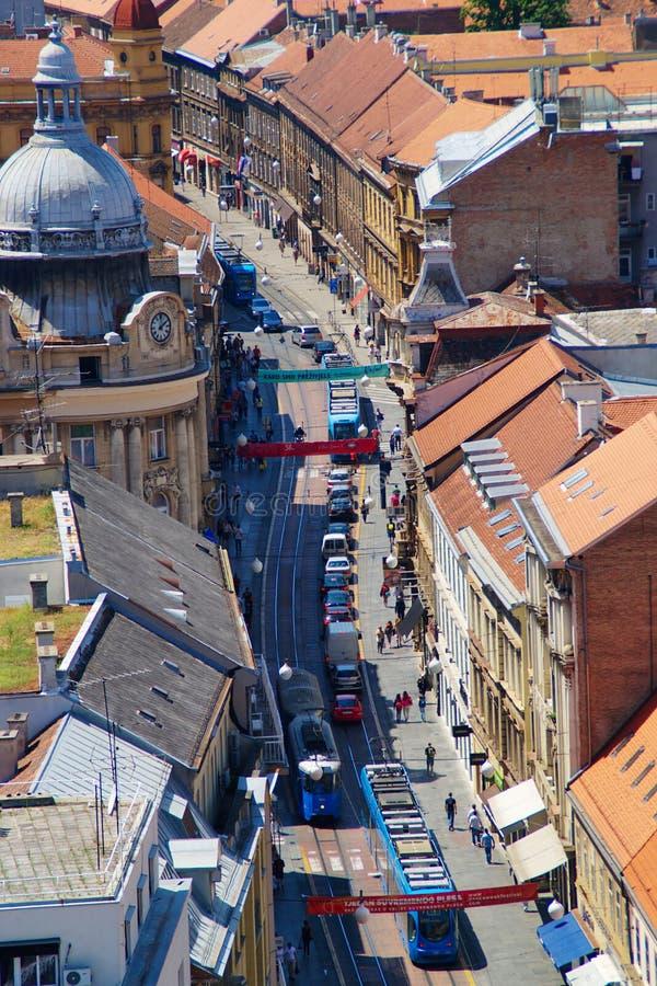 Zagabria, via di Ilica fotografia stock libera da diritti