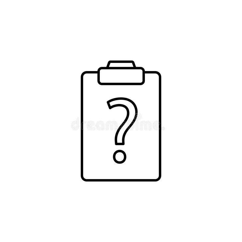 zagadnienie na papierowej ikonie Element prosta ikona dla stron internetowych, sieć projekt, wisząca ozdoba app, ewidencyjne graf ilustracji