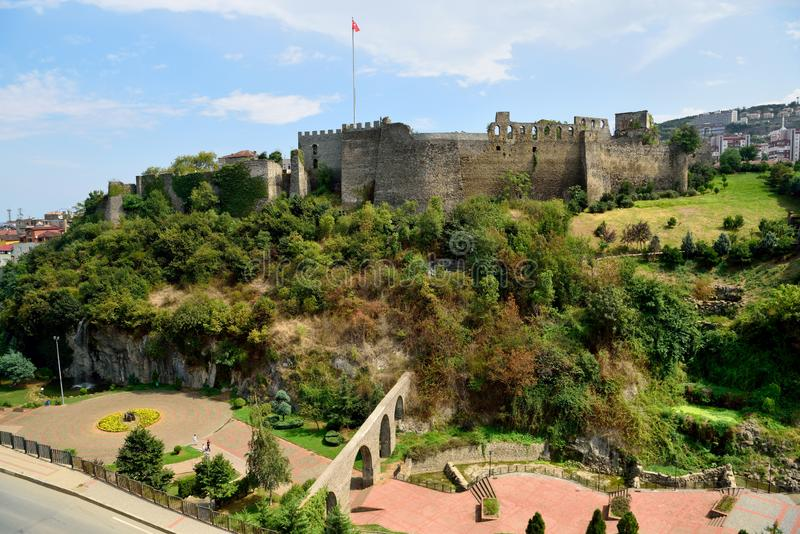 Zagnos Vadisi park and castle in Trabzon, Turkey stock image