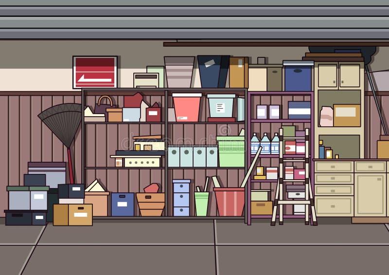 Zagracenie garaż ilustracja wektor