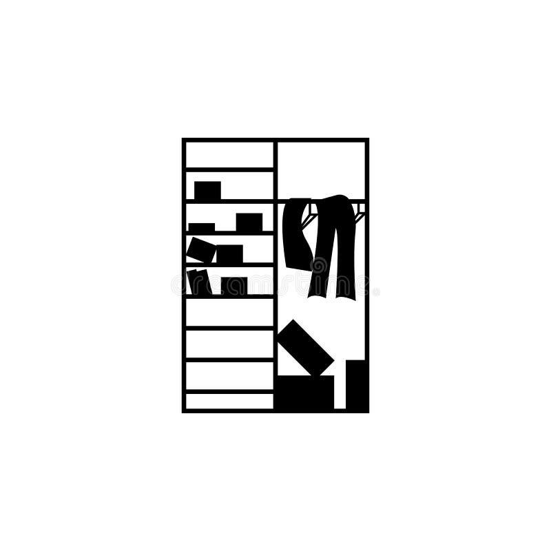 Zagracenie w closetï ¿ ½ ikonie ilustracja wektor