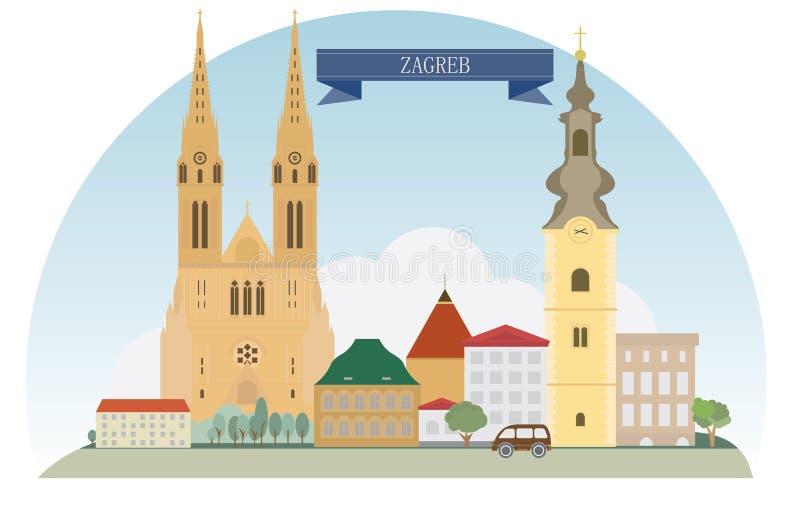 Zagreb lizenzfreie abbildung
