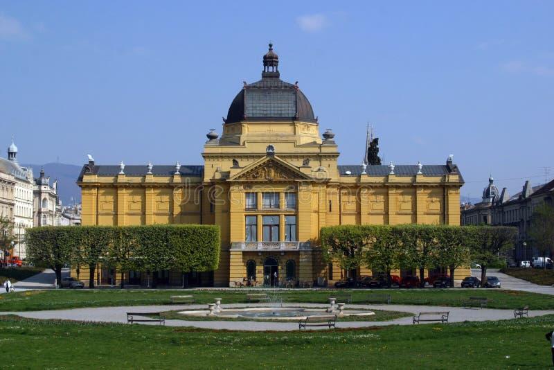 Zagreb Art Pavilion royalty-vrije stock foto's