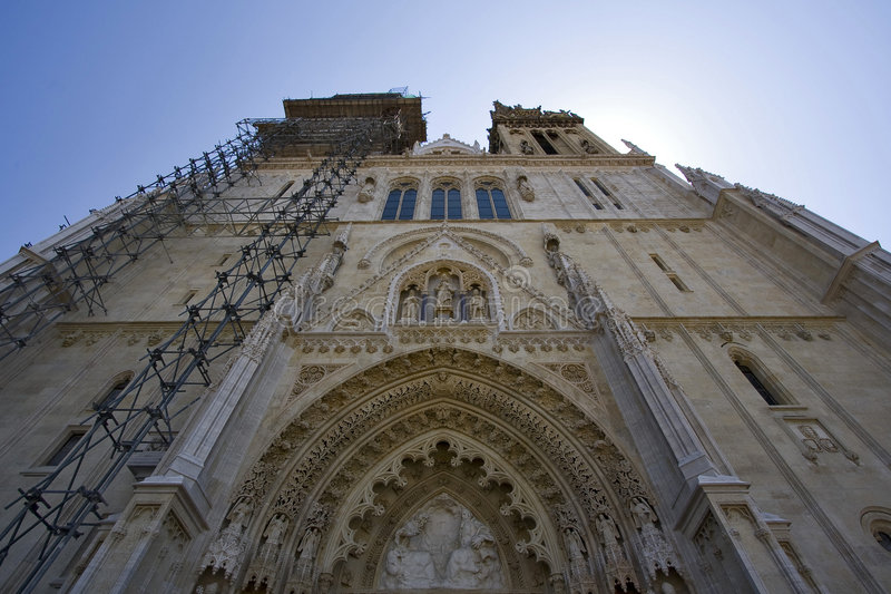 Zagreb Cathedral royalty free stock photography