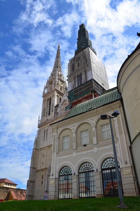 The Zagreb Cathedral royalty free stock photo