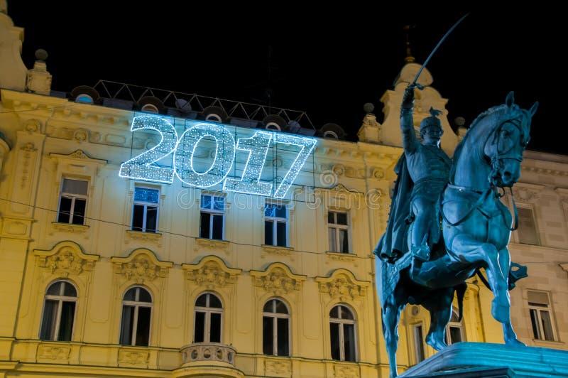 Zagreb Christmas market royalty free stock image