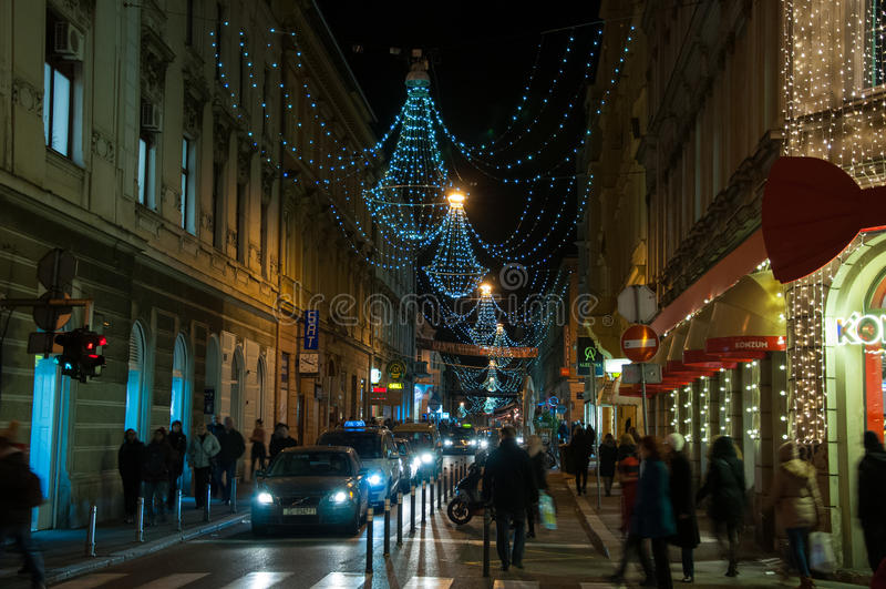 Zagreb Christmas market royalty free stock photos