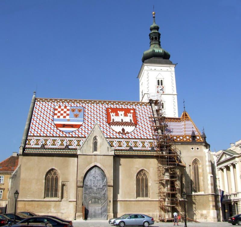 Zagreb church 2 stock photos