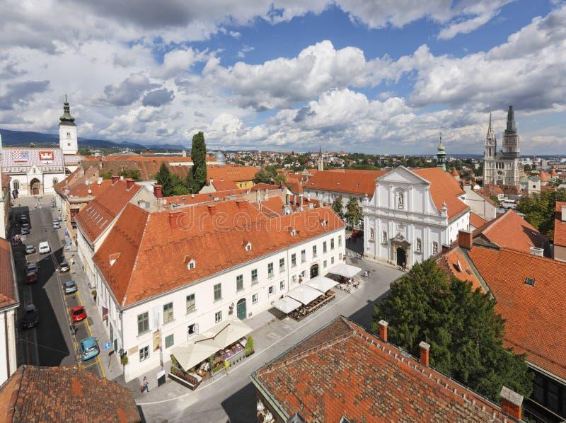Zagreb citispace royalty-vrije stock afbeeldingen