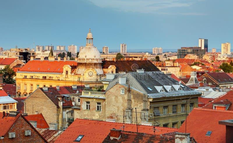 Zagreb cityspace fotografering för bildbyråer