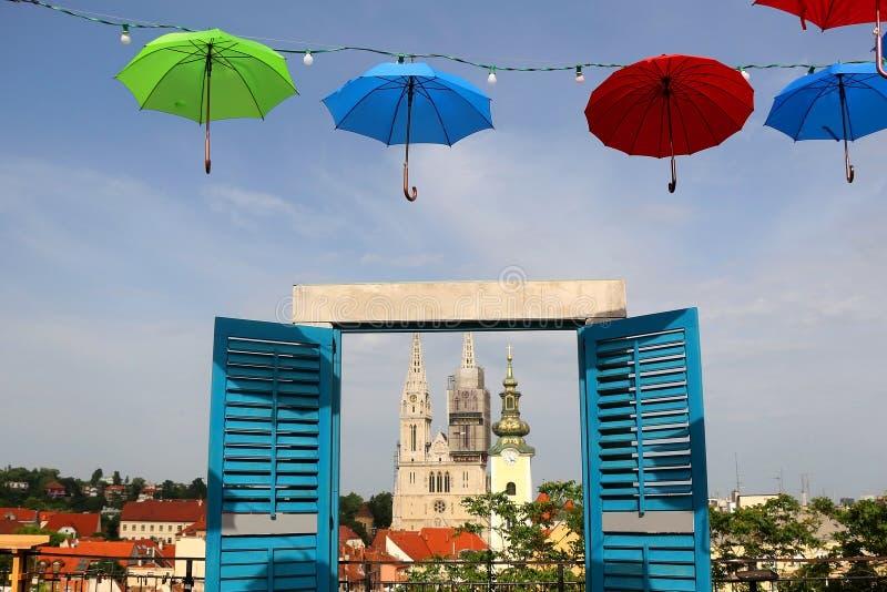 Zagreb, Cro?cia fotos de stock royalty free