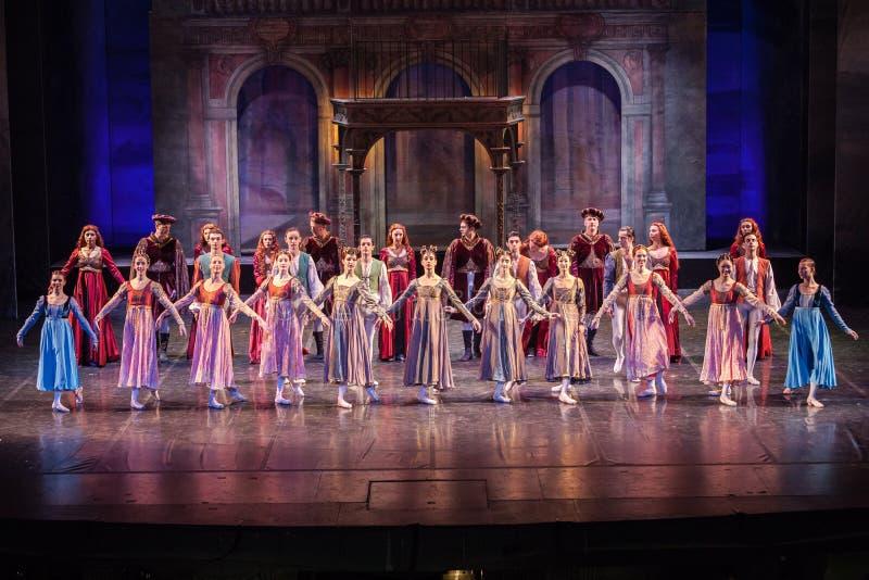 ZAGREB, CROACIA - 15 de febrero 2018 Romeo y Juliet Ballet cerca fotos de archivo libres de regalías