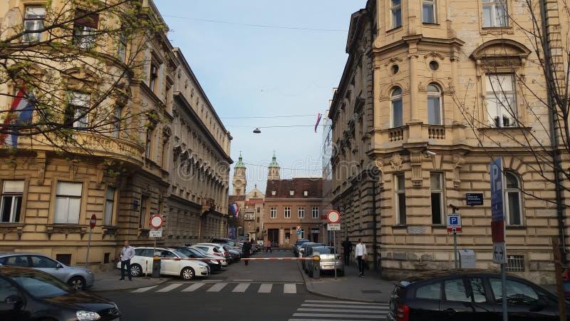 Zagreb Croatia Arquitetura de Zagreb fotos de stock royalty free